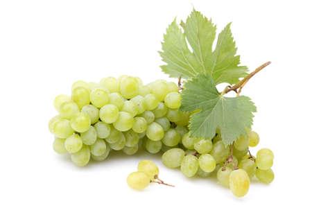Grapes on a white background Foto de archivo