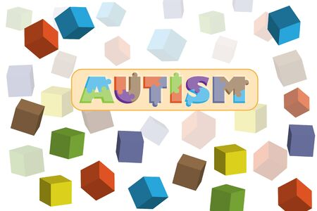 Autism. World Autism Awareness day, Vector illustration on white background