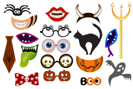 Halloween Photo Booth Props. Monster party printable and Masks Decorations