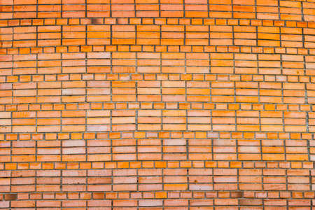 solar flare: Brick wall of red brick with a solar flare
