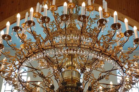 electrolier: Ceiling figured electrolier Stock Photo