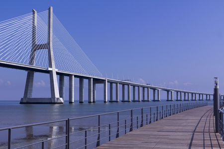 lisbon:  Vasco da Gama Bridge in Lisbon, Portugal