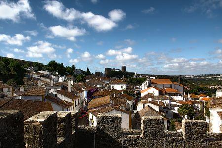 Medieval city Obidos, Portugal Stock Photo