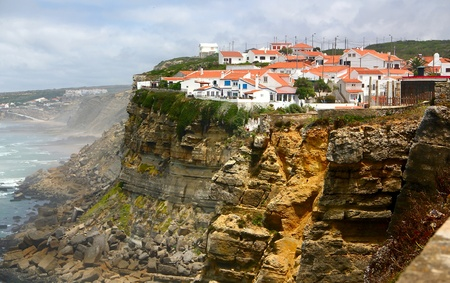 Seaside village on a cliff - Azenhas do Mar, Portugal Stock Photo