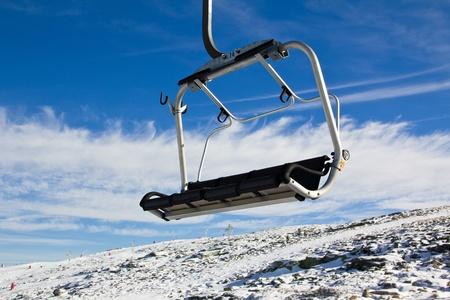 Ski cable car Stock Photo