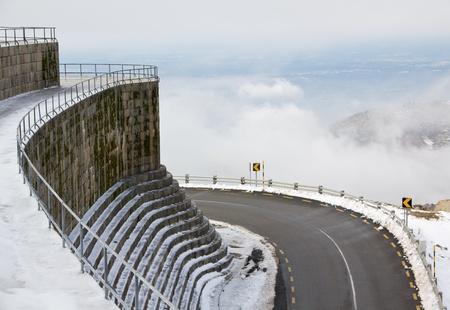Mountain road near Lagoa Comprida Dam Serra da Estrela