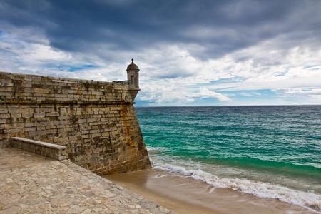 Festung in Sesimbra, Portugal
