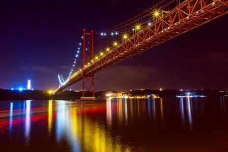 Der Br�cke 25 De Abril in Lissabon