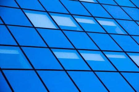 modern glass silhouettes of skyscraper