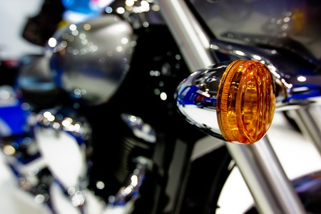 blinkers: Electric turn signal of motorcycle Stock Photo