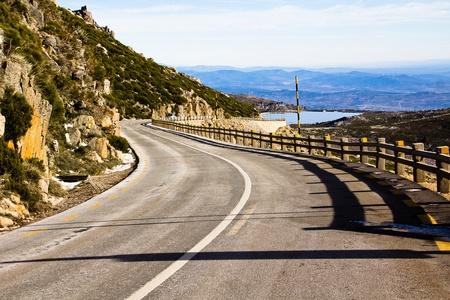 Mountain road from Serra de Estrela, Portugal Stock Photo