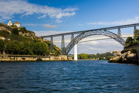 Metallic and Beam Bridges, Porto, River, Portugal