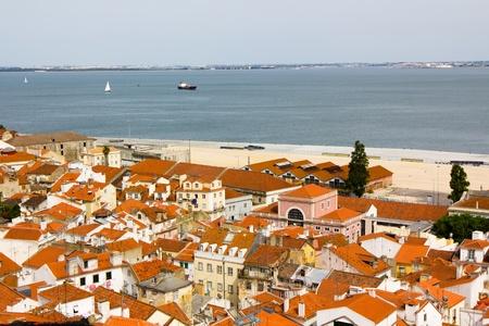 Alfama, Ancient Lisbon, River, ship