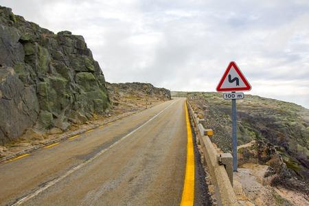 Bergstrasse von Serra de Estrela, Portugal
