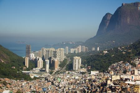 Favela Rocinha, biggest slum in Rio de Janeiro