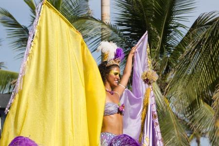 RIO DE JANEIRO, RJ BRAZIL - January 30, 2016: Worlds famous carnival in Rio de Janeiro, samba school parading in Ipanema on January 30, 2016 in Rio de Janeiro.