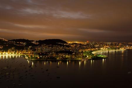 Aerial view over Rio de Janeiro, beachfront neighborhood Botafogo