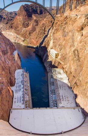 Hoover Dam Bypass Bridge, Colorado River near Las Vegas