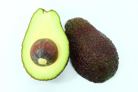 pip: Avocado on isolate white