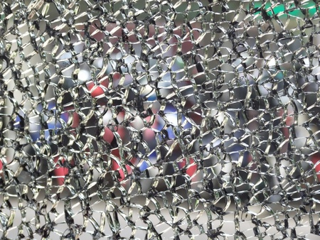Background of broken an crack glass wall photo