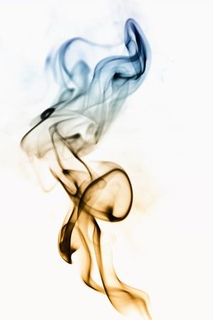 Fumo astratto, isolato su bianco Archivio Fotografico