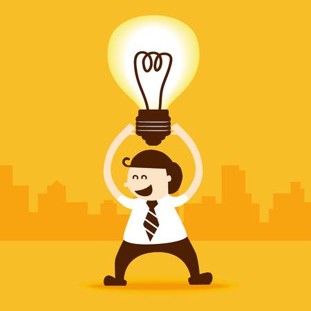 Business man get new idea Vector