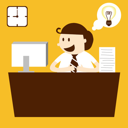 Business man working in table in working hour Vector