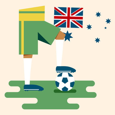Australia, National soccer kits Vector