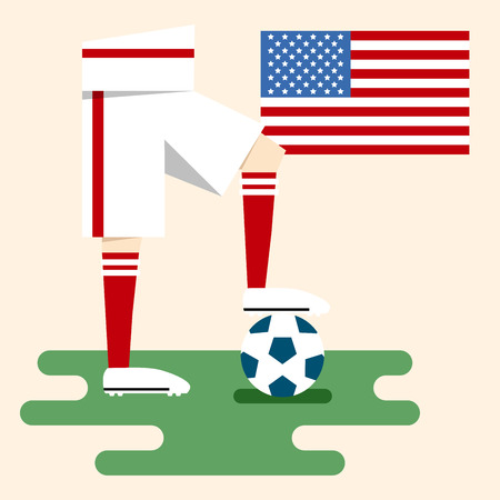 USA, National soccer kits Vector