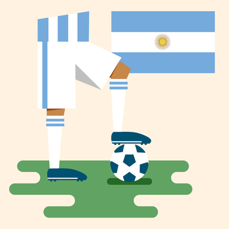 Argentina, National soccer kits Vector