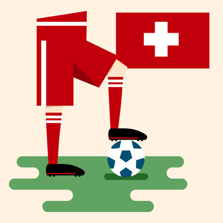 Switzerland, National soccer kits Vector