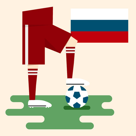 Russia, National soccer kits Vector