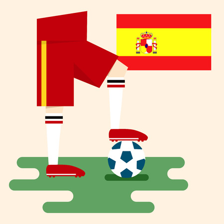 Spain, National soccer kits Vector