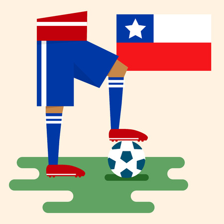 Chile, National soccer kits Vector