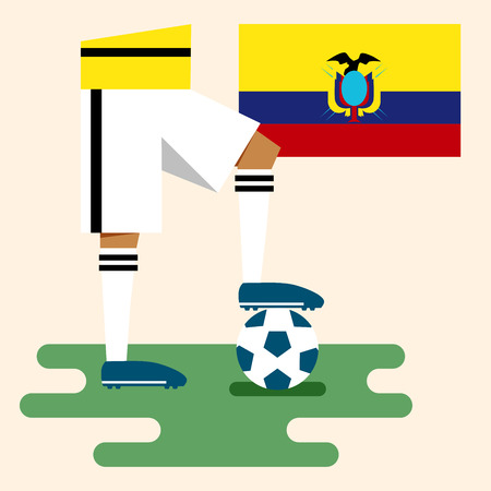 Ecuador, National soccer kits Vector