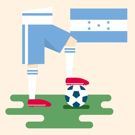 Honduras, National soccer kits Vector