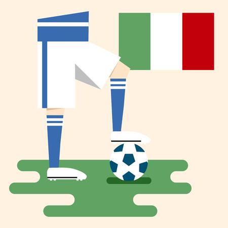 Italy, National soccer kits Vector