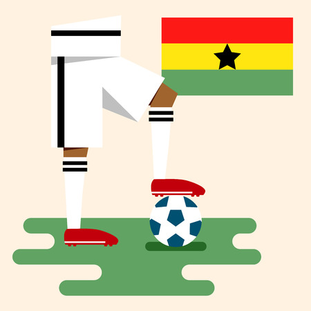 Ghana, National soccer kits Vector