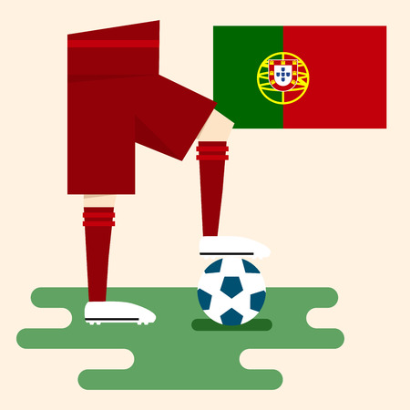 Portugal, National soccer kits Vector