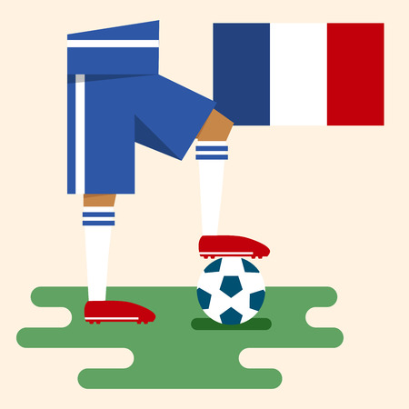 France, National soccer kits Vector