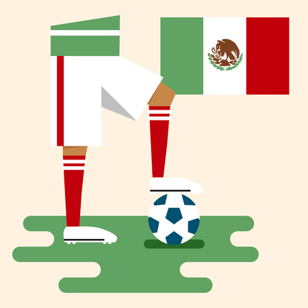 Mexico, National soccer kits Vector