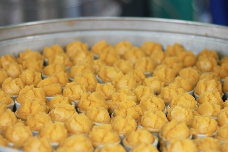 tarn: Thai style Sugar Palm cake   Kanom Tarn