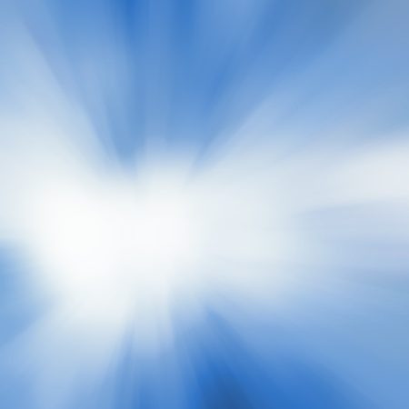 fluency: Blue and white abstract explosion with blurred rays Stock Photo