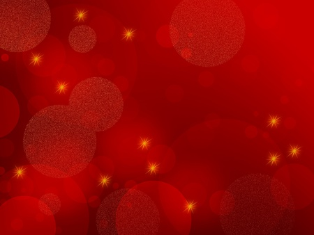 red christmas: Red abstract background - elegant design with circles and stars, also suitable for Christmas themes