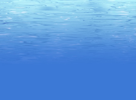 ripples: Underwater background illustration of deep sea with light clear water