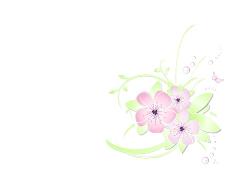 Flower background - abstract floral design  Vector