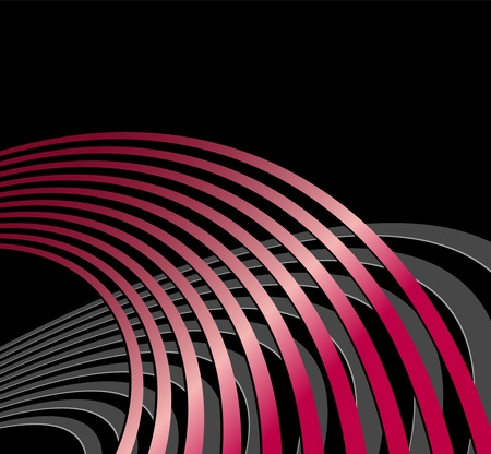 radio waves: Abstract background with circles and curved lines - symbolic of acoustic sound waves, radio waves and technical vibrations - suitable for music, business and technology designs