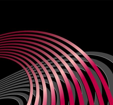 oscillation: Fondo abstracto con c�rculos y l�neas curvas - simb�licas de ondas ac�sticas, ondas de radio y vibraciones t�cnicas - aptos para dise�os de m�sica, negocios y tecnolog�a