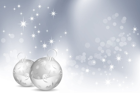 Christmas background with baubles Stock Vector - 10468498
