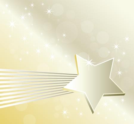 etoiles filante: Shiny �toile filante - festive fond abstrait - style �l�gant avec des lignes brillantes - d�cor de No�l avec copie espace - style luxe Illustration